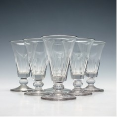 Set of Six Georgian Jelly Glasses c1830