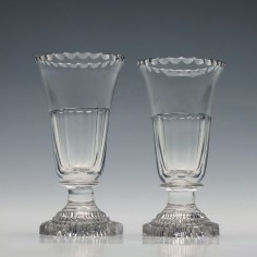 Pair Georgian Jelly Glasses c1820