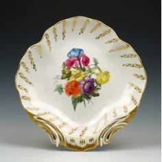 Very Rare Mark Derby Porcelain Shell Shaped Dessert Dish c1820