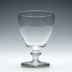 Georgian Glass Rummer with an Incurved Bucket Bowl c1820