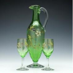 19th Century Claret Jug and Glasses c1880