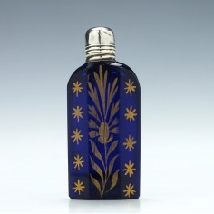Blue Glass Miniature Scent Bottle c1780