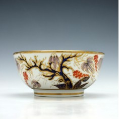 New Hall Imari vine Porcelain Slop Bowl c1815
