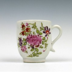 Curtis Pattern Lowestoft Porcelain Coffee Cup c1790