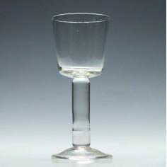 19th Century Plain Stem Wine Goblet c1880