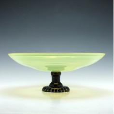 Schneider Art Glass Tazza c1920