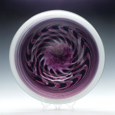 Signed Anthony Stern Glass Charger