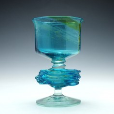 Michael Harris Designed Mdina Glass Chalice 1974