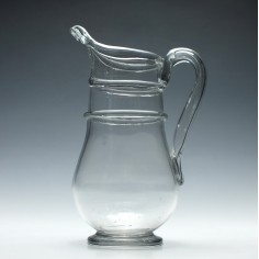 A French Glass Cider Jug c1820