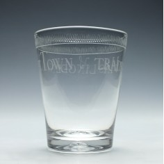 Hasilngden Tribute 18th Century Glass Tumbler c1820