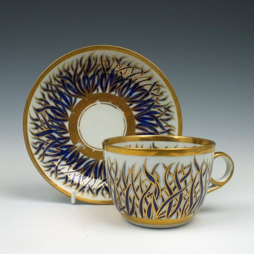 New Hall Porcelain Pattern 741 Tea Cup & Saucer c1800