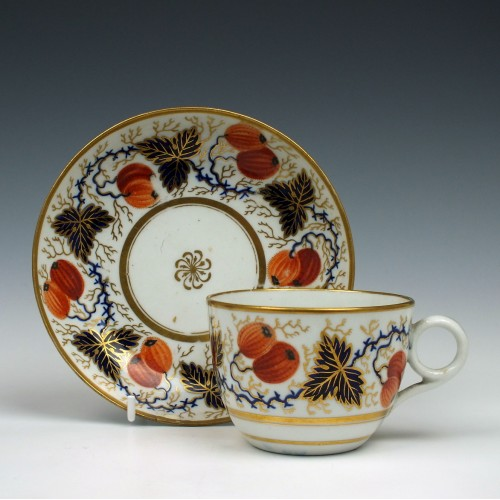 New Hall Pattern 750 Teacup and Saucer c1805
