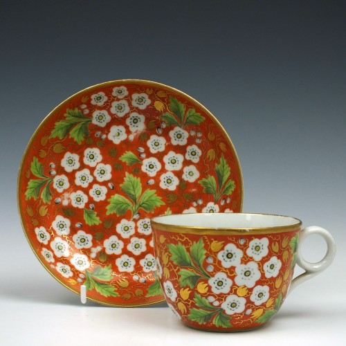 New Hall Pattern 770 Teacup and Saucer c1805