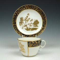 New Hall Porcelain Tea Cup & Saucer c1815