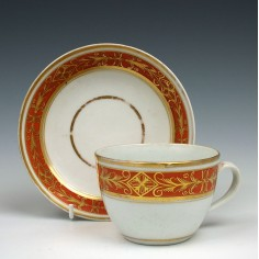 New Hall Porcelain Pattern 516 Tea Cup & Saucer c1800