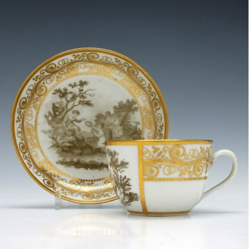 New Hall Pattern 511 Tea Cup and Saucer c1805