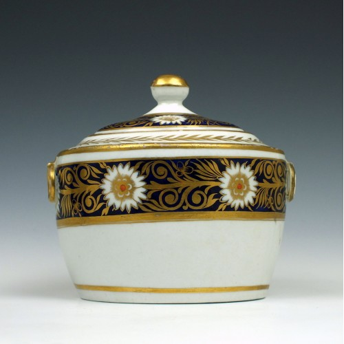 New Hall Porcelain Sucrier Pattern 499 c1795