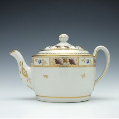 New Hall Porcelain Teapot c1815