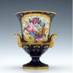 Coalport Porcelain Campana Vase c1815