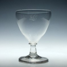 Engraved Early 19th Century Glass Rummer