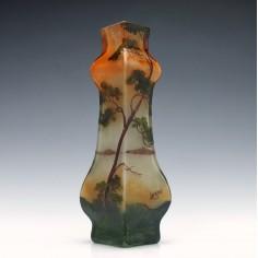 Legras Enamelled Cameo Landscape Vase c1905