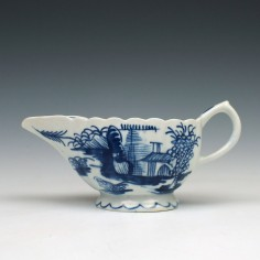 Bow Porcelain Desirable Residence Pattern Creamboat, C1755-60