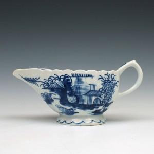 Bow Porcelain Desirable Residence Pattern Creamboat, C1755-60