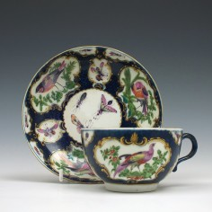 First period Worcester Tea Cup and Saucer c1765-85