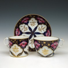 New Hall Porcelain pattern 1474 Trio c1815