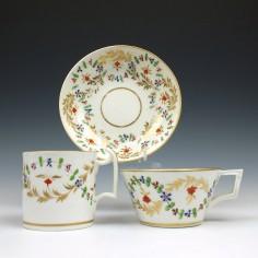 Derby Porcelain Trio c1815