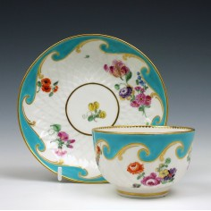 Chelsea-Derby  Artichoke Pattern Pattern Teabowl and saucer c1770