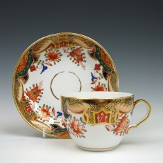 Spode Porcelain Imari Pattern 967 Teacup & Saucer c1810