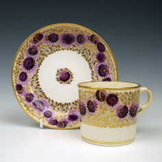 Minton Porcelain Pattern 540 Coffee Can and Saucer c1820