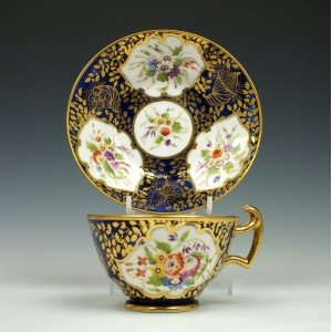 Minton Porcelain Serves Style Teacup and Saucer c1805
