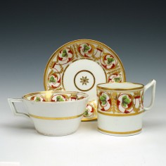 Derby Porcelain Trio c1810