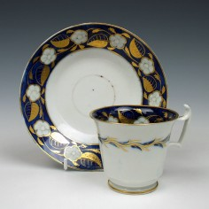 Thomas Rose Coalport Coffee Cup And Saucer c1810