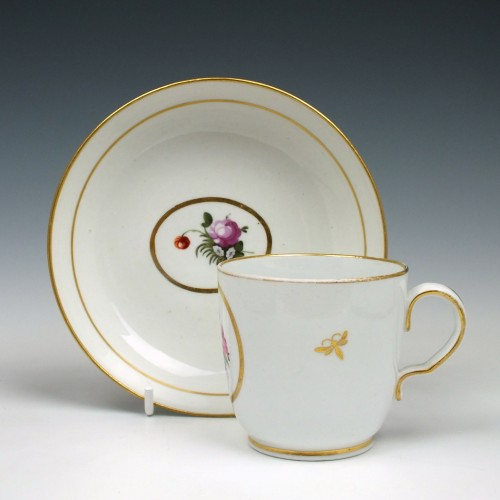 Thomas Wolfe Porcelain Coffee Cup and Saucer c1800