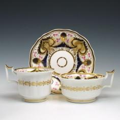 John Yates Pattern 1319 Porcelain Trio c1815