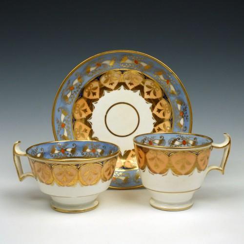 Rare Ridgway Porcelain Trio Pattern 2/20 c1825