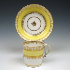 Chamberlain Worcester Coffee Cup and Saucer c1798