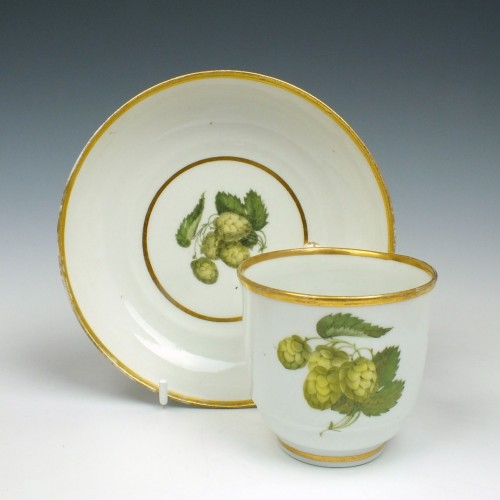 Flight and Barr Period Hop Pattern Coffee Cup and Saucer c1800