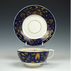 Derby Porcelain Teacup and Saucer c1815