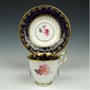 Minton Porcelain Pattern 546 Coffee Cup and Saucer c1820