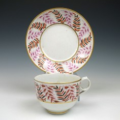 New Hall Porcelain Tea Cup & Saucer c1805