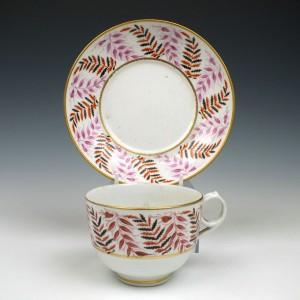 New Hall Porcelain Tea Cup & Saucer c1805 Was £45