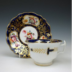 John Rose Coalport Floral pattern Teacup and Saucer c1810
