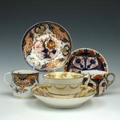 A Collection Of Derby Porcelain Cups and Saucers  c1815-80
