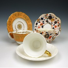 A Group Of Coalport Porcelain Cups and Saucers c1820-1920