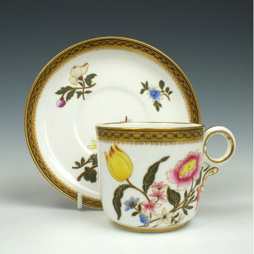 Royal Worcester Coffee Cup and Saucer 1882