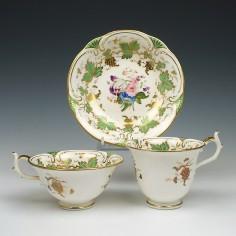 Rockingham Porcelain Trio c1830